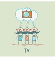 people think about the TV vector image vector image