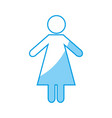 pictogram woman icon image vector image vector image