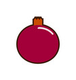 pomegranate icon flat isolated on clean background vector image