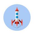 rocket flat icon rocket icon b vector image vector image