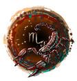 scorpio is a sign zodiac vector image