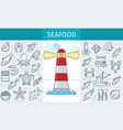 seafood store banner vector image