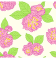 Seamless pattern with peach flowers vector image vector image