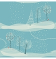 seamless winter background with trees vector image vector image