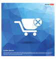 shopping cart and delete sign vector image vector image