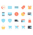shopping silhouette icons set pictograms vector image vector image