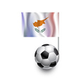 Soccer Balls or Footballs with flag of Cyprus vector image vector image