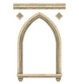 stone beige antique gothic castle or temple arch vector image vector image