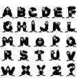 Strange Monster Alphabet vector image vector image