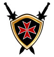 templar shield icon vector image vector image