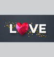 valentines day festive background with realistic vector image vector image
