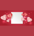 valentines day horizontal background with paper vector image vector image