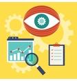 web analytics information vector image vector image