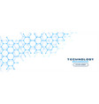 white background with blue hexagon lines pattern vector image