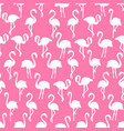 white flamingo silhouettes seamless pattern on vector image vector image