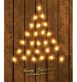 Wooden Christmas Design vector image