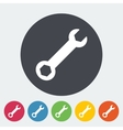 Wrench single icon vector image vector image