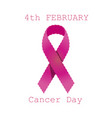 cancer ribbon breast pink awareness icon isolated vector image