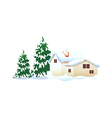 icon house in the snow vector image