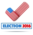 Symbol of Election 2016 vector image