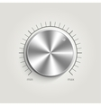 Metal volume music control vector image