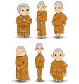 Buddihist nun vector image