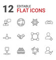 12 friendship icons vector image vector image