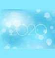 2020 new year greeting card vector image vector image