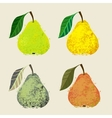 a pear fruits vector image vector image