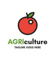 apple agriculture logo vector image