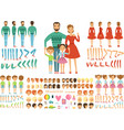 big happy family mother father and childrens vector image