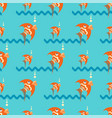 bright orange fish on a blue background with vector image vector image
