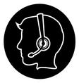 Call center executive icon vector image vector image