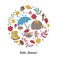 Cartoon autumn elements vector image