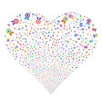 certificate seal fireworks heart vector image vector image