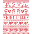 christmas pattern merry christmas god yule vector image vector image