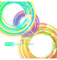 circular colors lines on a white vector image vector image