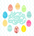colorful eggs on pasture easter vector image vector image