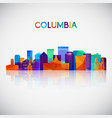 columbia skyline silhouette in colorful geometric vector image vector image