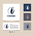 creative and simple modern concept fishing logo vector image