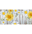 daisy and tulips flowers bouquet watercolor vector image vector image