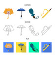 design of protection and closed logo set vector image vector image