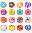 donut doughnut food and glazed sweet vector image vector image