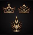 elegance crown vector image vector image