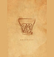 espresso cup craft vector image vector image