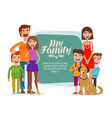 family banner happy people parents and children vector image vector image