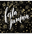 Festa Junina party greeting design vector image vector image