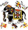 festive indian elephant vector image