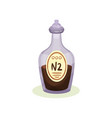 flat icon of glass bottle with brown vector image