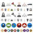 funeral ceremony cartoon icons in set collection vector image vector image